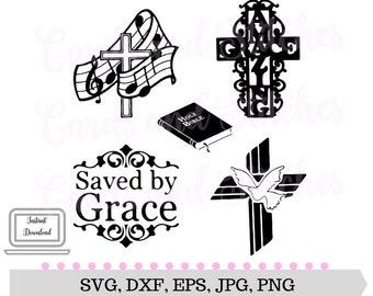 Crosses SVG - Amazing Grace SVG - Religious SVG - Digital Cut File - Vector File - Cricut Cut - Instant Download - Svg, Dxf, Jpg, Eps, Png
