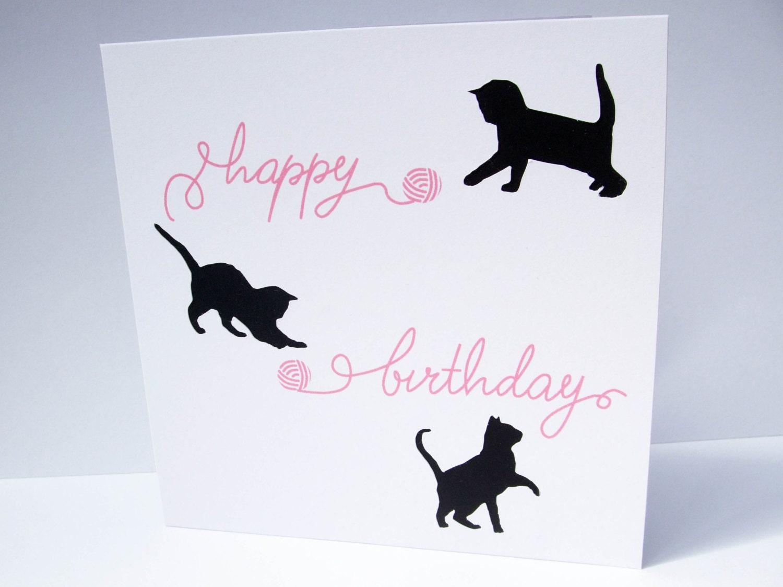 Cat birthday card paper cut cats cute kittens card cat zoom bookmarktalkfo Gallery