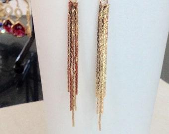 Long gold earrings, long gold dangle earrings, long earrings gold, long stud earrings, stud earrings gold, earrings gold, dangle earrings