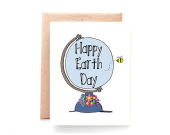 Happy Earth Day Card - Earth Day Gifts - Happy Earth Day by Yellow Daisy Paper Co.