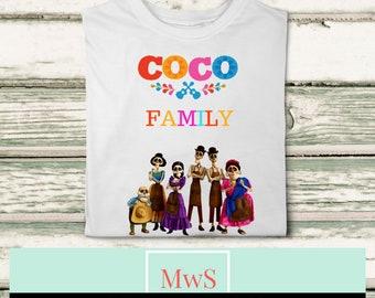 Coco Family printable iron on transfer