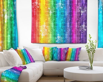Designart Rainbow Effects Illustration Abstract Wall Tapestry, Wall Art Fit for Wall Hanging, Dorm, Home Decor