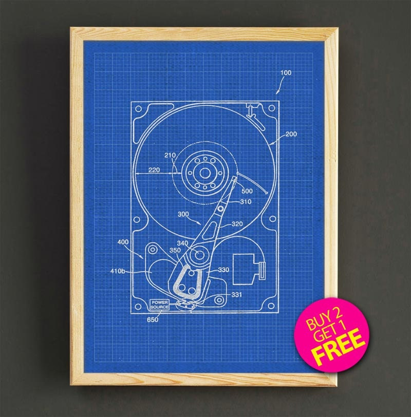 Hard drive schematic diagram patent wall art hard drive zoom malvernweather Images