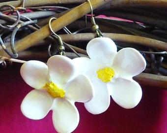 Ceramic Spring Flower Earrings