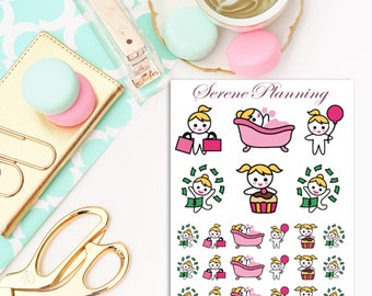 Carly Happy Times Planner Stickers