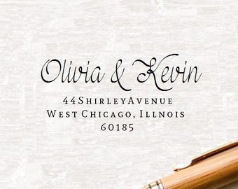 Return Address Stamp, Return Address Stamper, Custom Address Stamp, Custom Rubber Stamp, Personalized Self Inking Wedding Stationery Stamper
