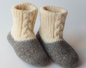 SPRING SALE Eco friendly felted slippers