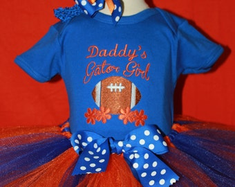 Daddys girl, florida gators, florida, UF, University of Florida, gators, football, baby girl, baby shower gift, new baby gift,baby girl gift