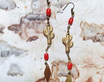 Saguaro Coral Earrings