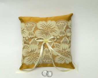 Weeding Ring Pillow, Satin  Pillow, Satin and Lace ring holder, Weeding Ring, Weeding Decoration, Pearl, Custom, Handmade, Pillow