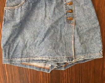 Denim Shorts Skort Skirt