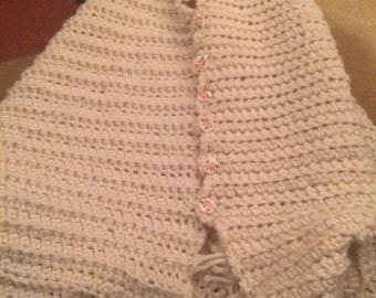 Hand Crocheted Poncho Shawl