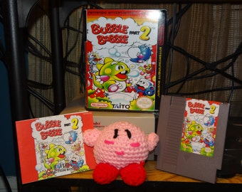 NES Nintendo Bubble Bobble 2 Repro cartridge w/ free manual (case is optional/select under 'variations') *Higher Quality Parts!