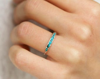 Wrapped Raw Turquoise Band Ring. Turquoise Band Ring. Turquoise Ring. Turquoise Band. Turquoise Wedding Band. Turquoise Wedding Ring