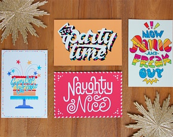 Postcards: set of 4, Christmas edition - Christmas - Gift