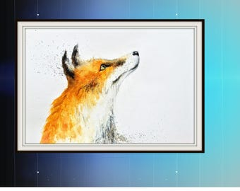 Large Limited Edition Print of 50 Of My Original Watercolour Painting 'LOOK UP' by Antoni