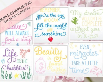 Disney Princess Bundle cut file for Silhouette & Cricut type cutting machines