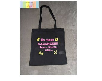 """Bag personalized tote bag """"in""""vacation mode, MOM/Grandma gift idea"""
