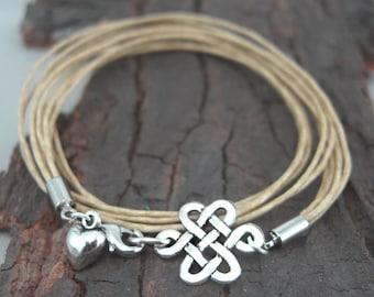 Bracelet Celtic Knot Silver plated