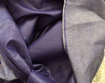 Fabric blue denim color for creation