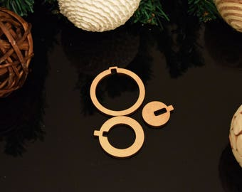 Bauble 3 in 1 Christmas Decoration 3mm MDF