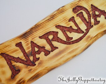 Narnia Sign, Your Own Narnia Chronicles of Narnia Aslan Lion Witch and the Wardrobe Narnia Wall Art Narnia Decor C S Lewis, Ready to Ship