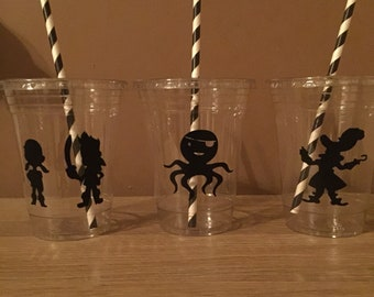 Pirate Party Cups, Birthday, Party Favors