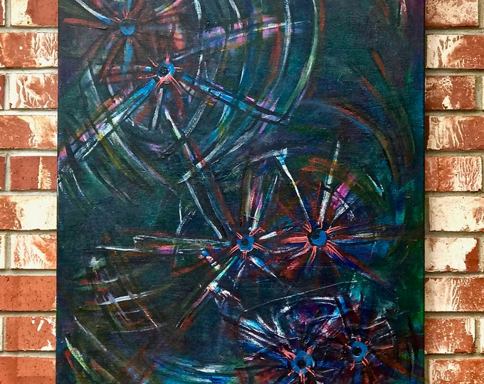 "Abstract Painting ""Bloodshot Eyes"""