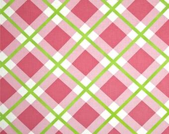 56007  - 1/2 yard of  Jane Sassaman Enchanted  Perpetual plaid in pink