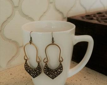 Arabesque Brass Earrings