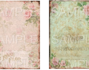 Romance No. 2 -  Printable Digital Collage Sheet - Digital Download -  Romantic instant download