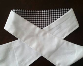 Easy wrap gingham dressage stock tie