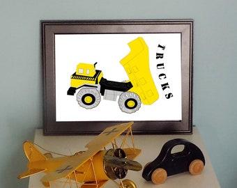 Construction Truck Print No.1