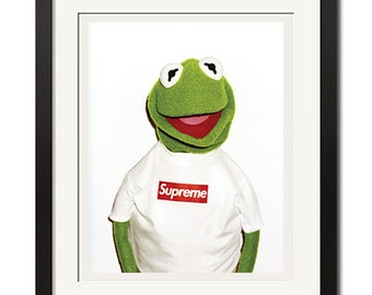 Supreme x Kermit Photo By Terry Richardson Urban Street Poster Print