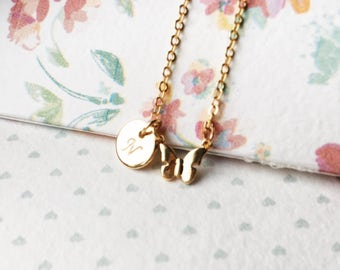 Gold bunny necklace easter gift niece necklace for child gold bunny necklace easter gift niece necklace for child easter bunny charm rabbit pendant negle Images