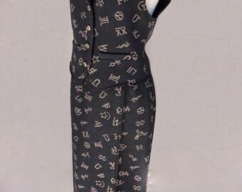 Vintage Pendleton Skirt and Vest Set, Black Vest, Long Black Skirt, Black Maxi Skirt, Southwestern, Wool Skirt and Vest, Wrap Skirt