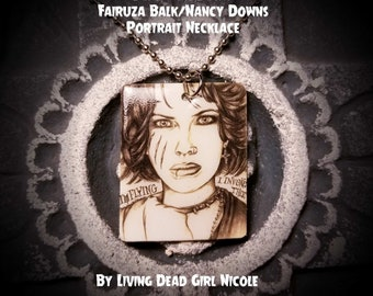 "Portrait On Necklace : ""I Bind You Nancy"" Fairuza Balk Nancy Downs The Craft Witches"