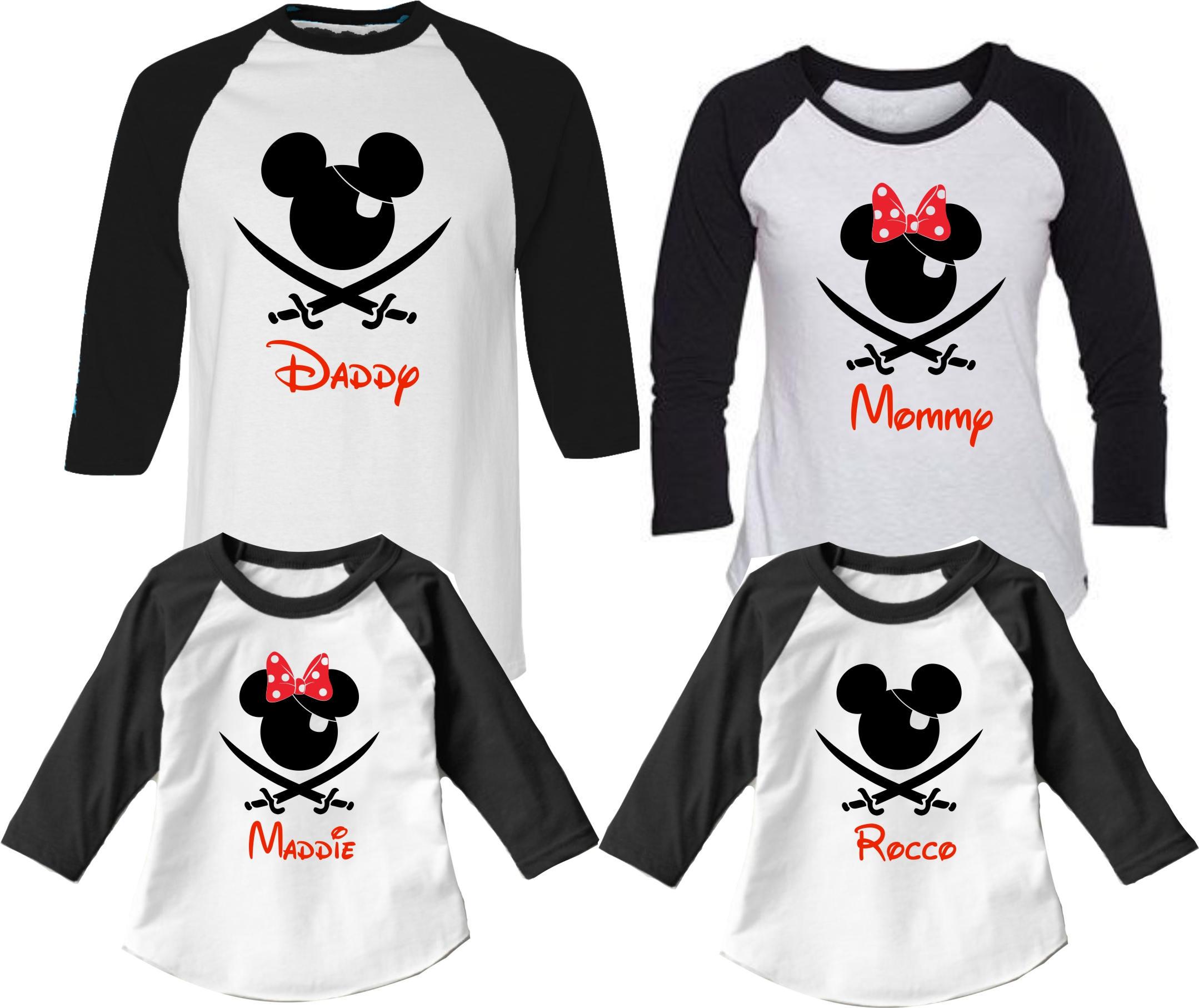Disney Family Shirts Cruise Pirate Night Family Vacation