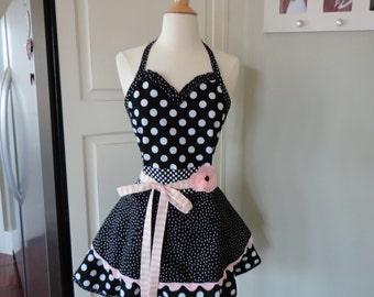 Oh So Cute Apron- Sadie Style - Cute Retro Modern Apron for Bridal Gift ~  4RetroSisters