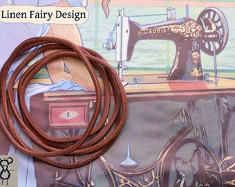 Leather Belt for Vintage Sewing Machine with foot drive 186 cm / 73,2 inch Belt for Foot Powered Sewing Machines