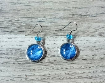 Earrings and a Denim Blue cabochon