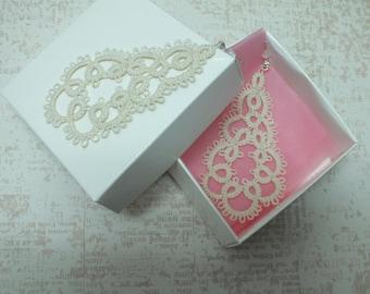 Wedding Lace Earrings Beige Teardrop Earrings Bridal Lace Earrings Ivory Lace Earrings Light Earrings Ecofriendly Earrings Cotton Lace Gift.
