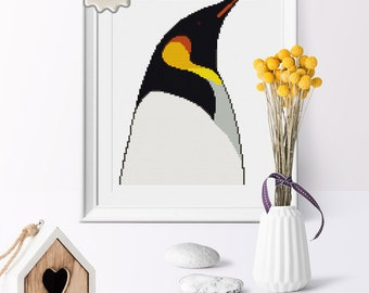 Penguin Stitch Pattern,  Antarctic Animal Modern Cross Stitch Instant Download, Wall Decor Cross Stitch PDF File