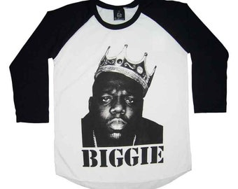 Sale!! Biggie Shirt Hip Hop Shirt Rapper Tee Music Tees Biggie Tshirt Smalls Shirt Unisex Raglan Tees S M L