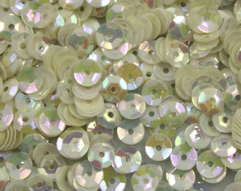 5mm Cupped Cream AB Vintage Sequins (1000 Pc)  #602