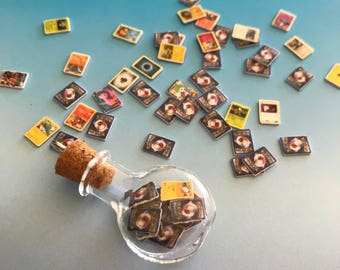 World's Smallest Mini Tiny Bottled Pokemon Cards