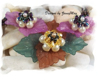 Nature's Glory Necklace, Beading Tutorial in PDF
