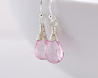 Baby Pink Quartz Earrings
