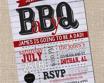 Bbq Baby Shower | Etsy