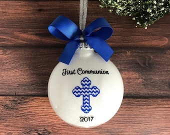1st Communion Gift for Boy, Personalized First Communion Ornament, Gift Boy, 1st Holy Communion Gift, First Holy Communion, Communion Boy